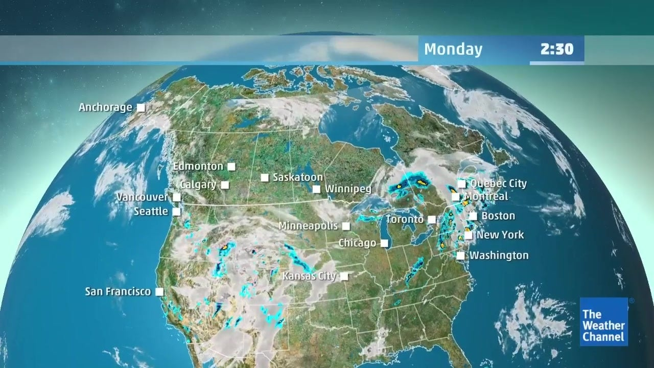 Check out the latest detailed forecast for Canada from May 20 to May 22