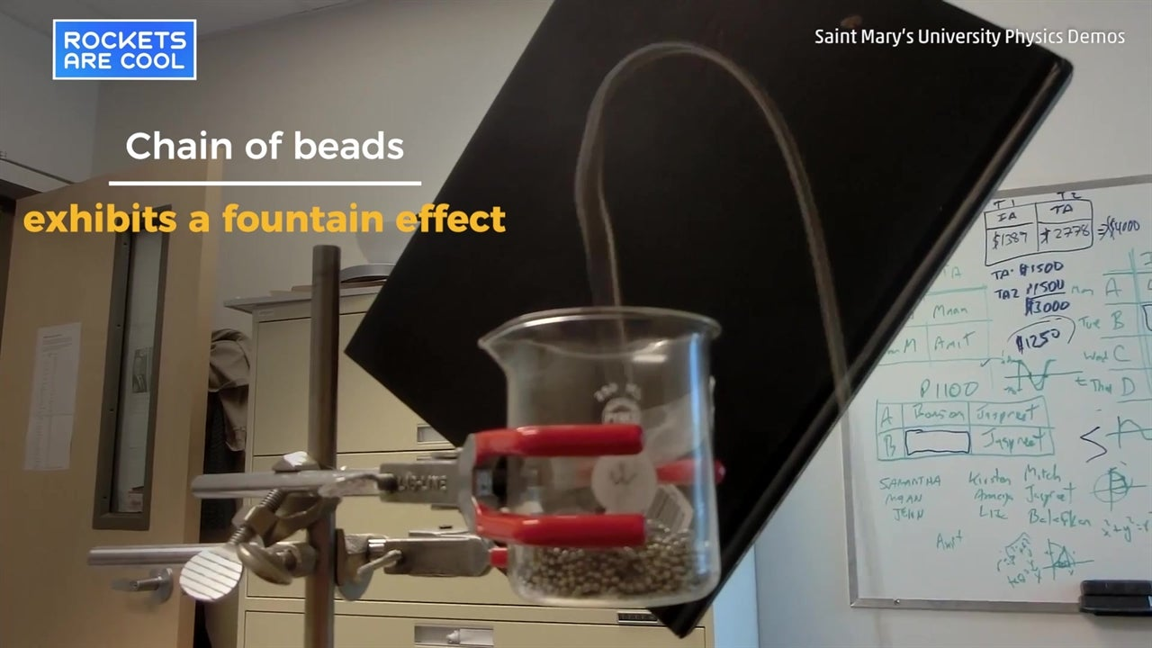 Chain fountain confounds physicists
