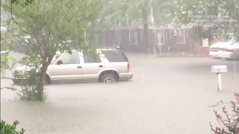 Heavy Rain From Bonnie Causes Flooding in Charleston