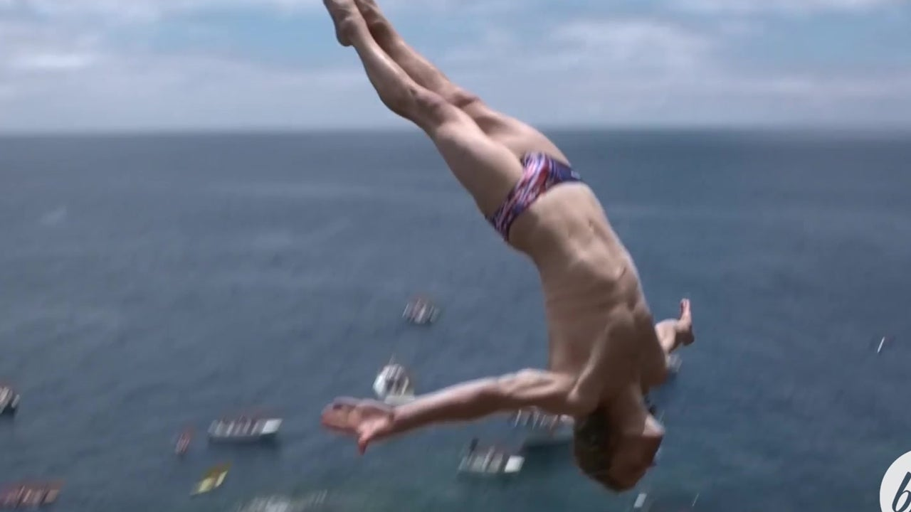 Cliff Diving Off Volcanic Rocks