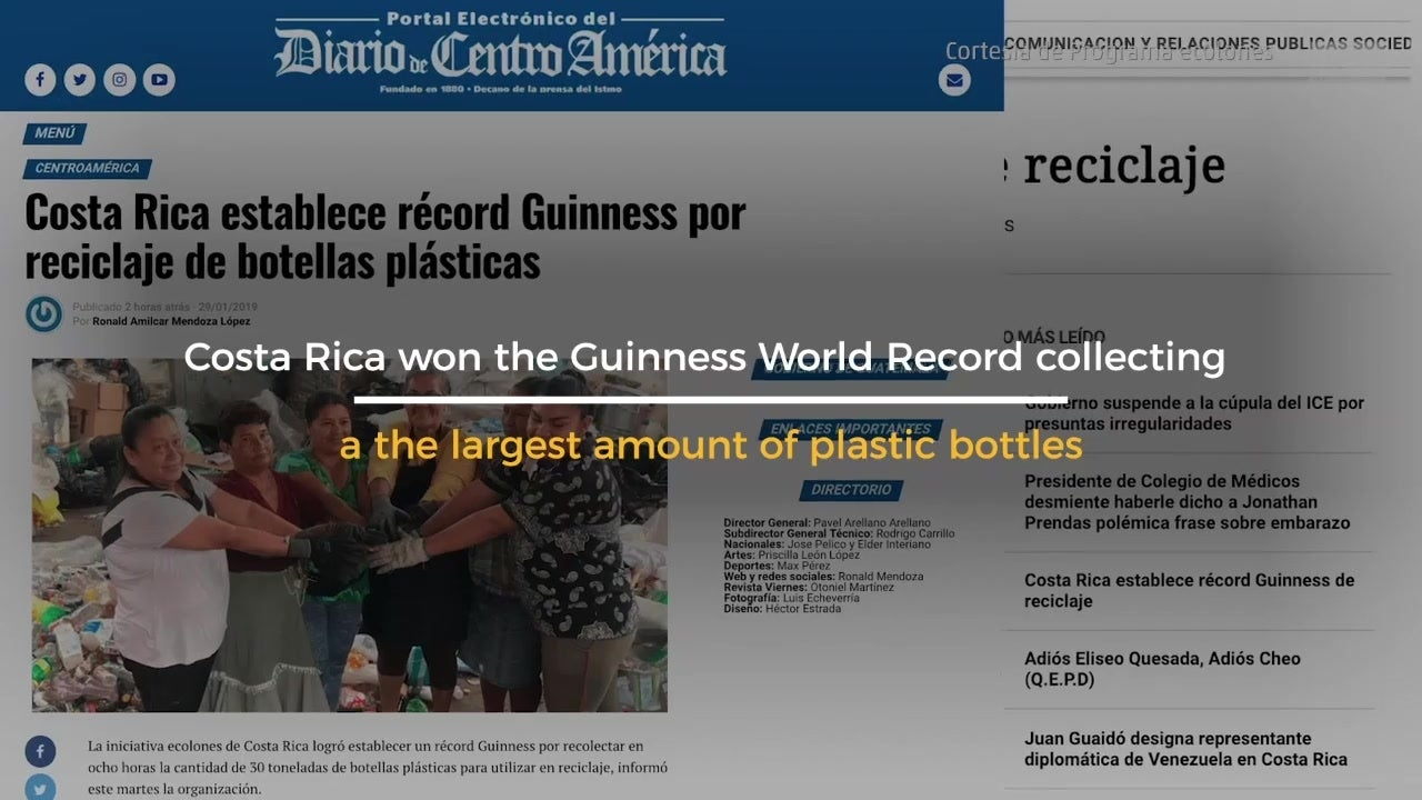 Costa Rica Guinness World Record for recycling