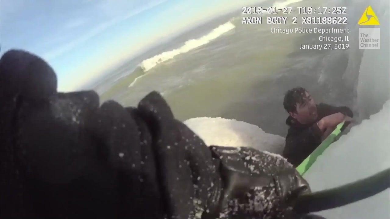 Polizei von Chicago startet Doppelrettungsaktion am Lake Michigan