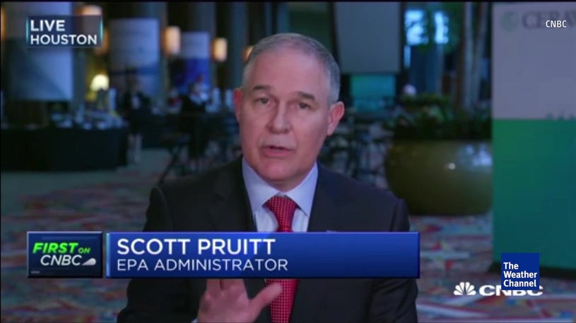 EPA Chief's Climate Change Shocker