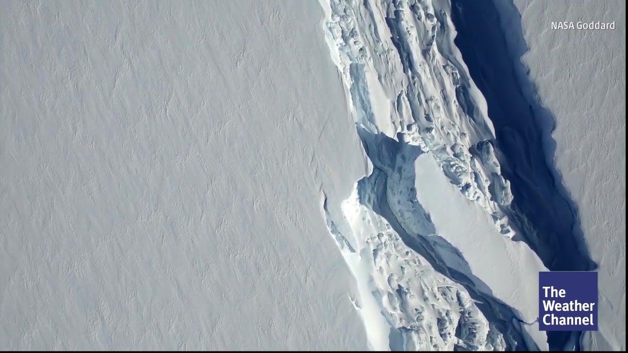 Nur  knapp 5 Kilometer zur Eisberg-Geburt