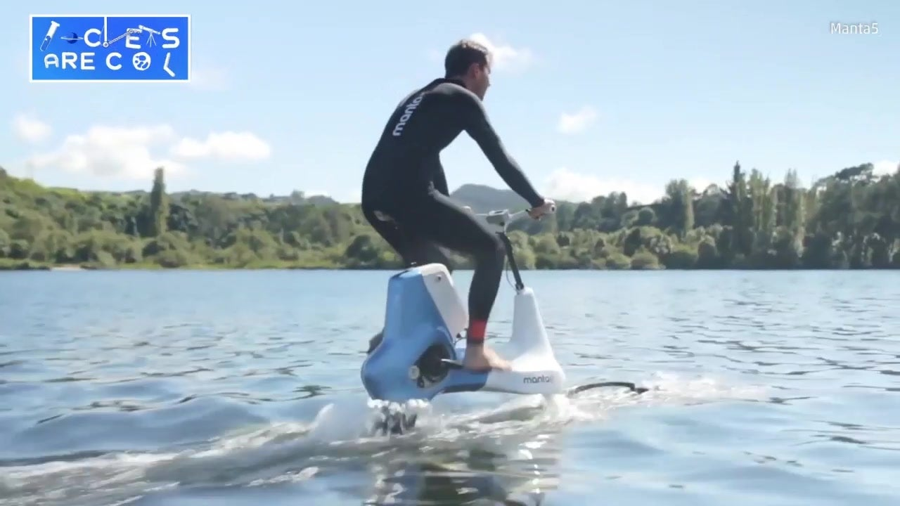 Electric Bike Cycles on Water