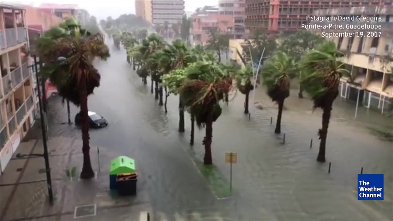 Hurricane Maria brings flooding to Guadeloupe