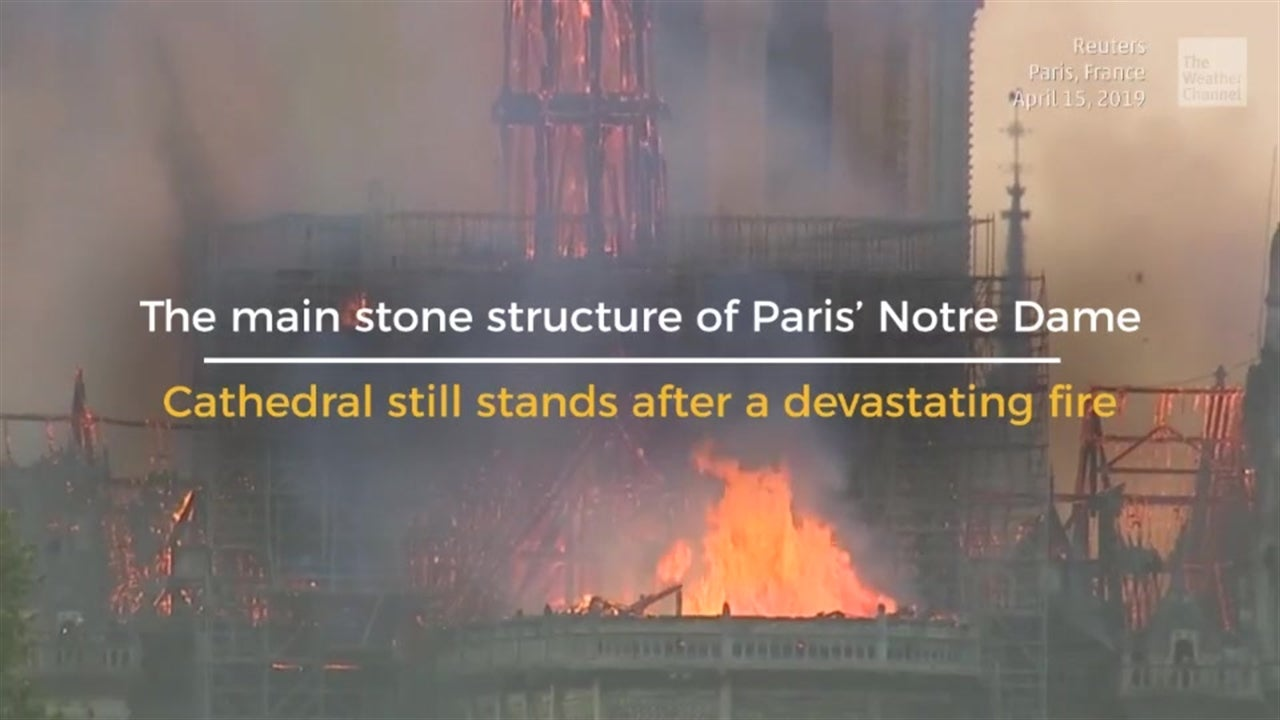 What's Left of Paris' Notre Dame Cathedral