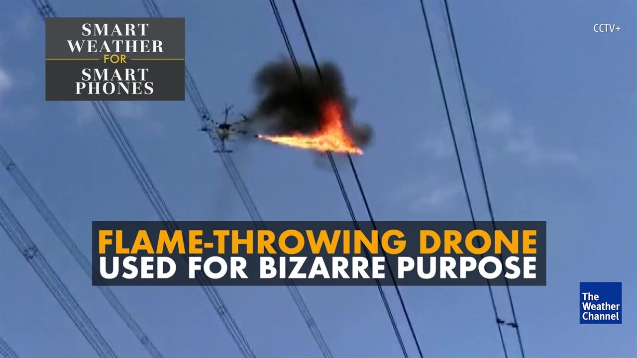 Watch fire-breathing drone being put to work