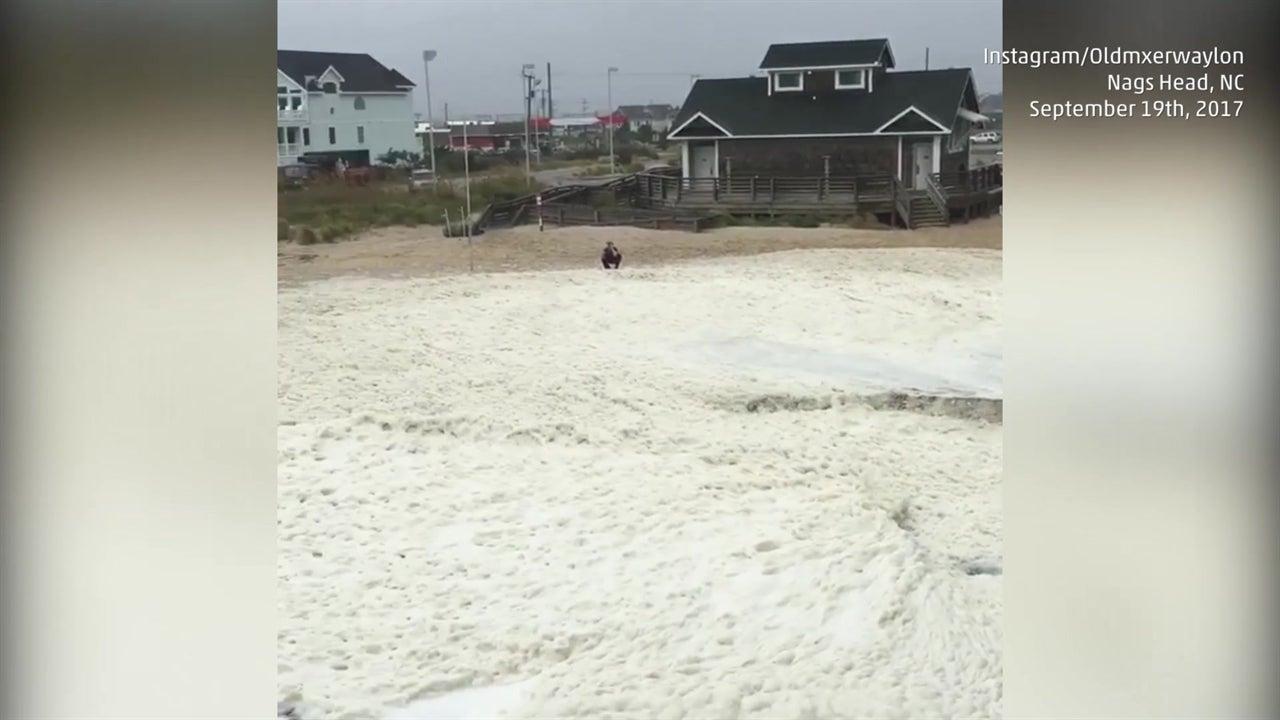 Jose churns up foam in North Carolina