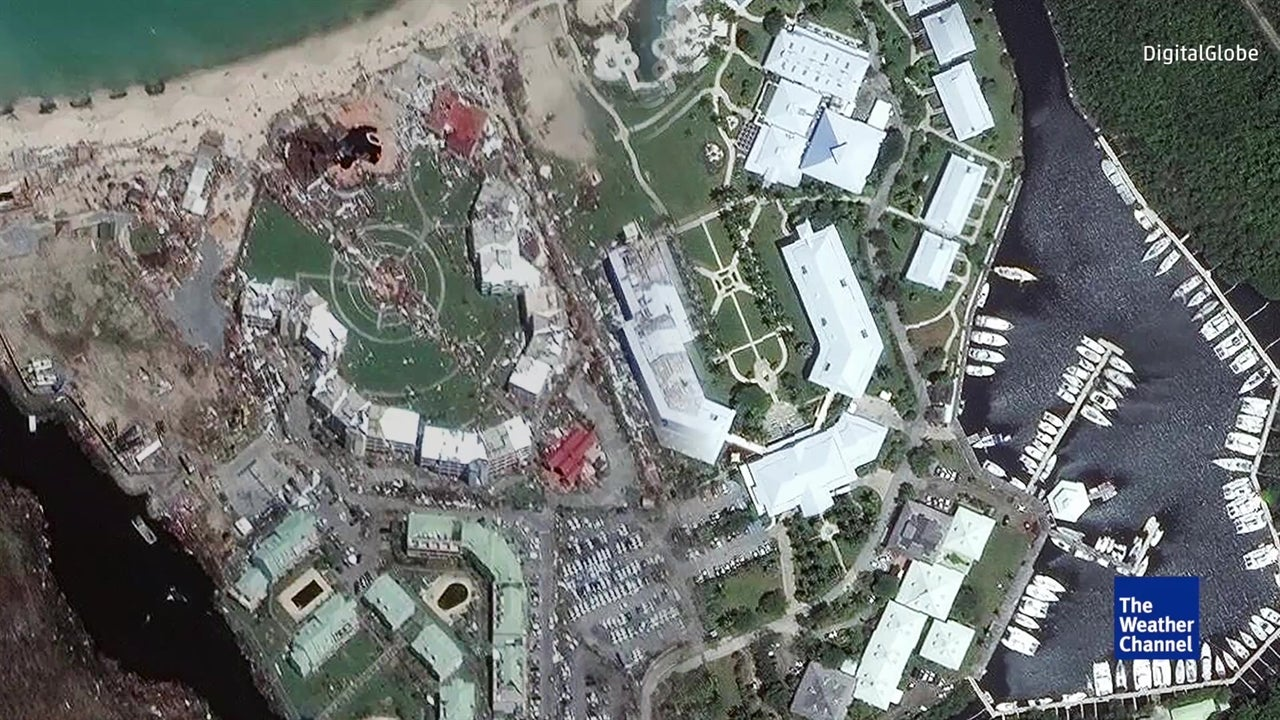 Satellite images show Irma damage in Caribbean