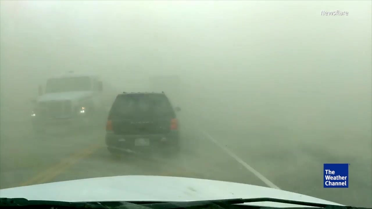 Watch: Dangerous dust storm in US reduces visibility to almost zero
