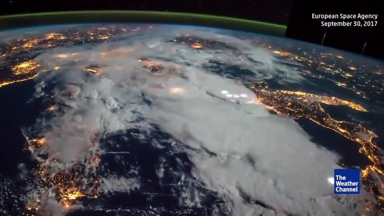Time-lapse of thunderstorms from space
