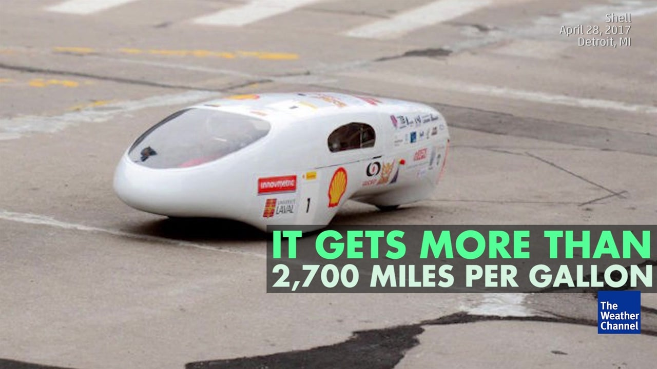 Watch: Student creates extremely fuel-efficient car