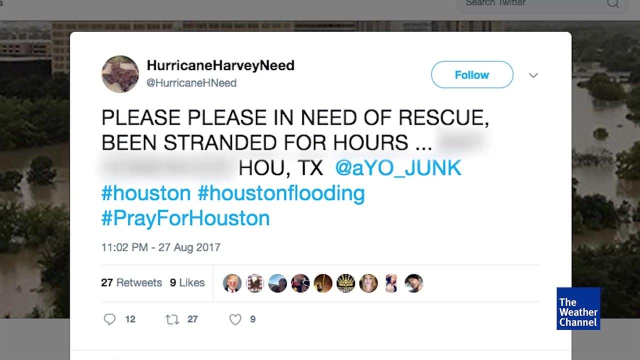 Houston residents share desperate cries for help on social media