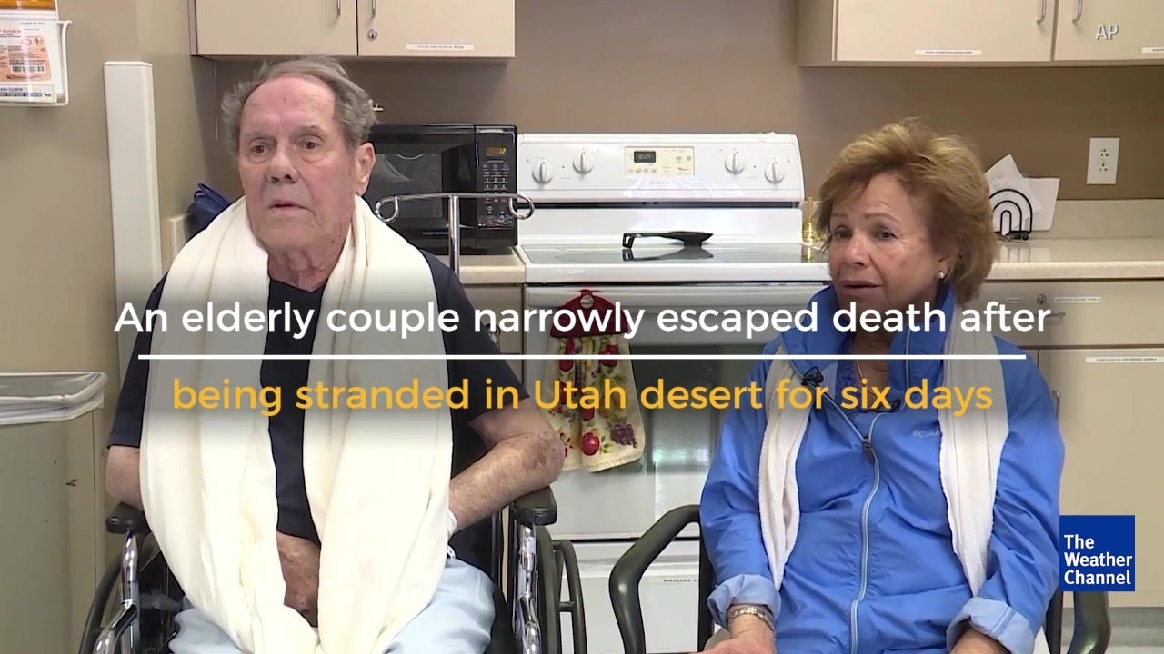 Couple stranded in desert for six days