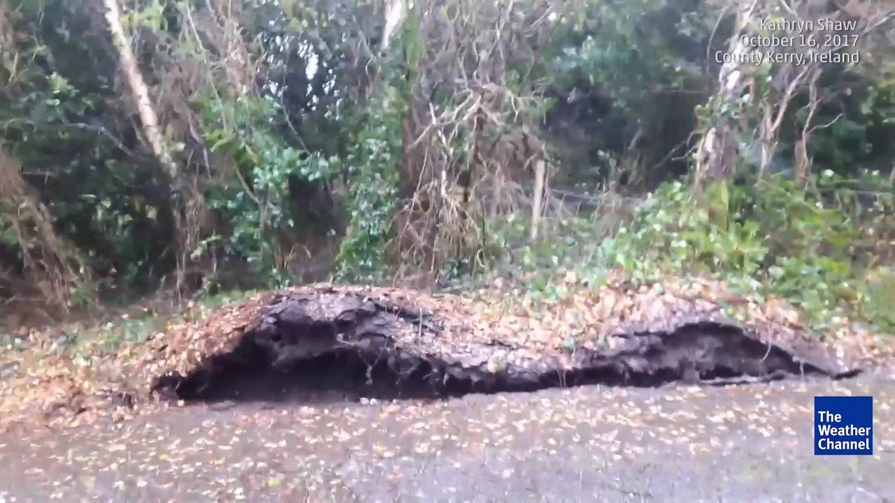 Watch ground move as Ophelia battered Ireland