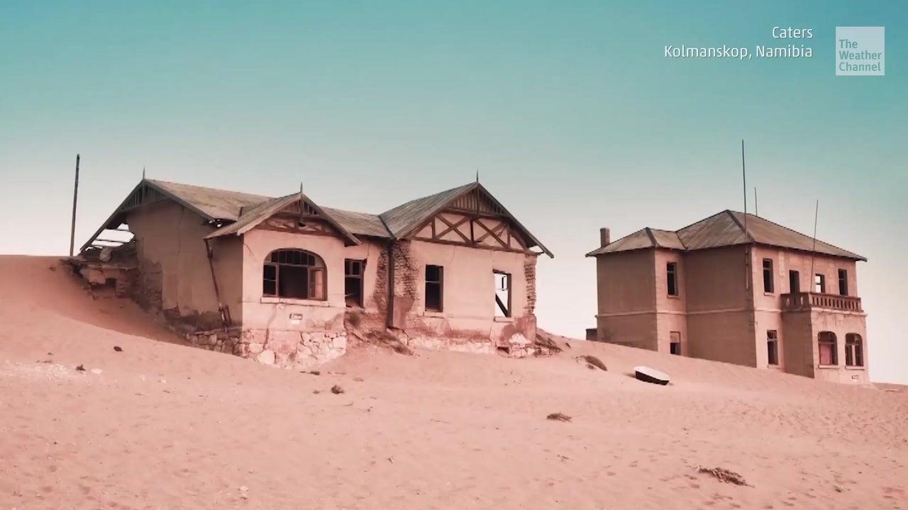 Gruselige Bilder: Deutsche Geisterstadt in Namibia versinkt im Sand