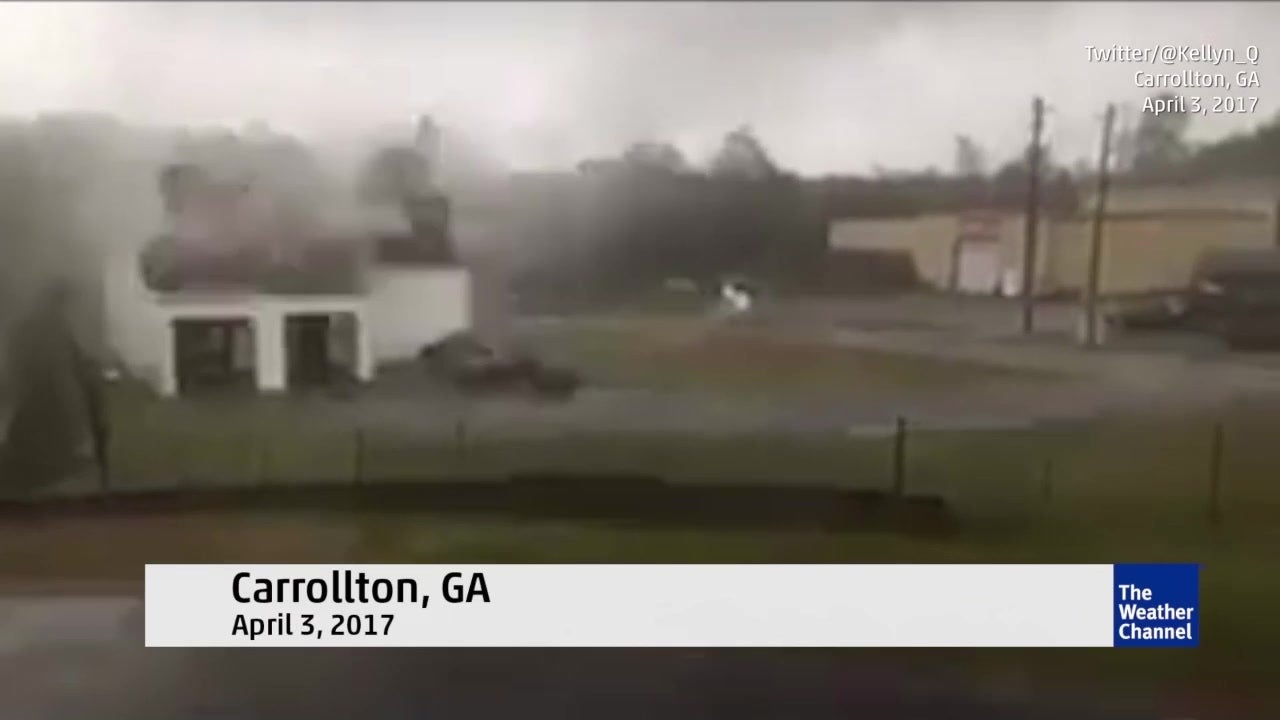 Watch: Roof blows off fire station