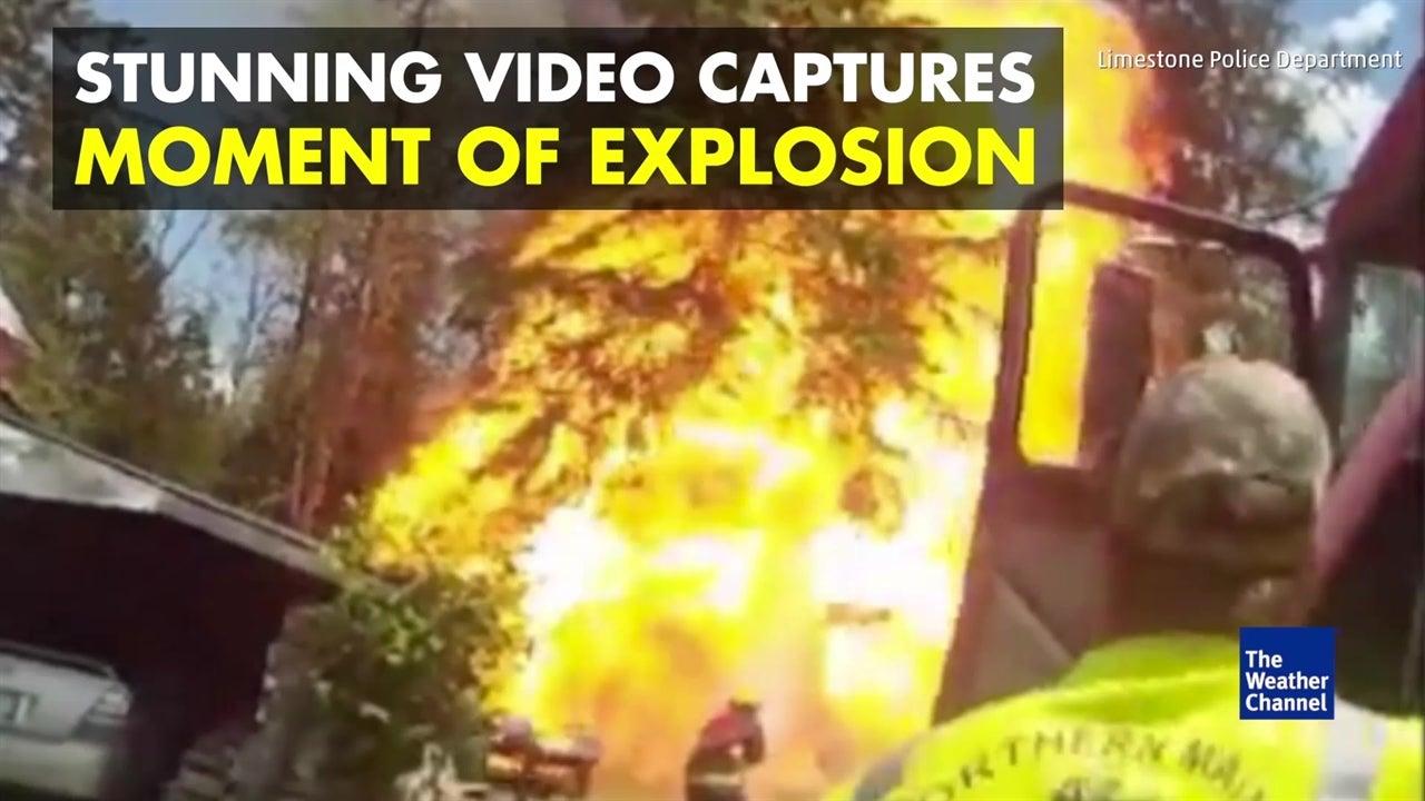 Spectacular blast captured on body cam