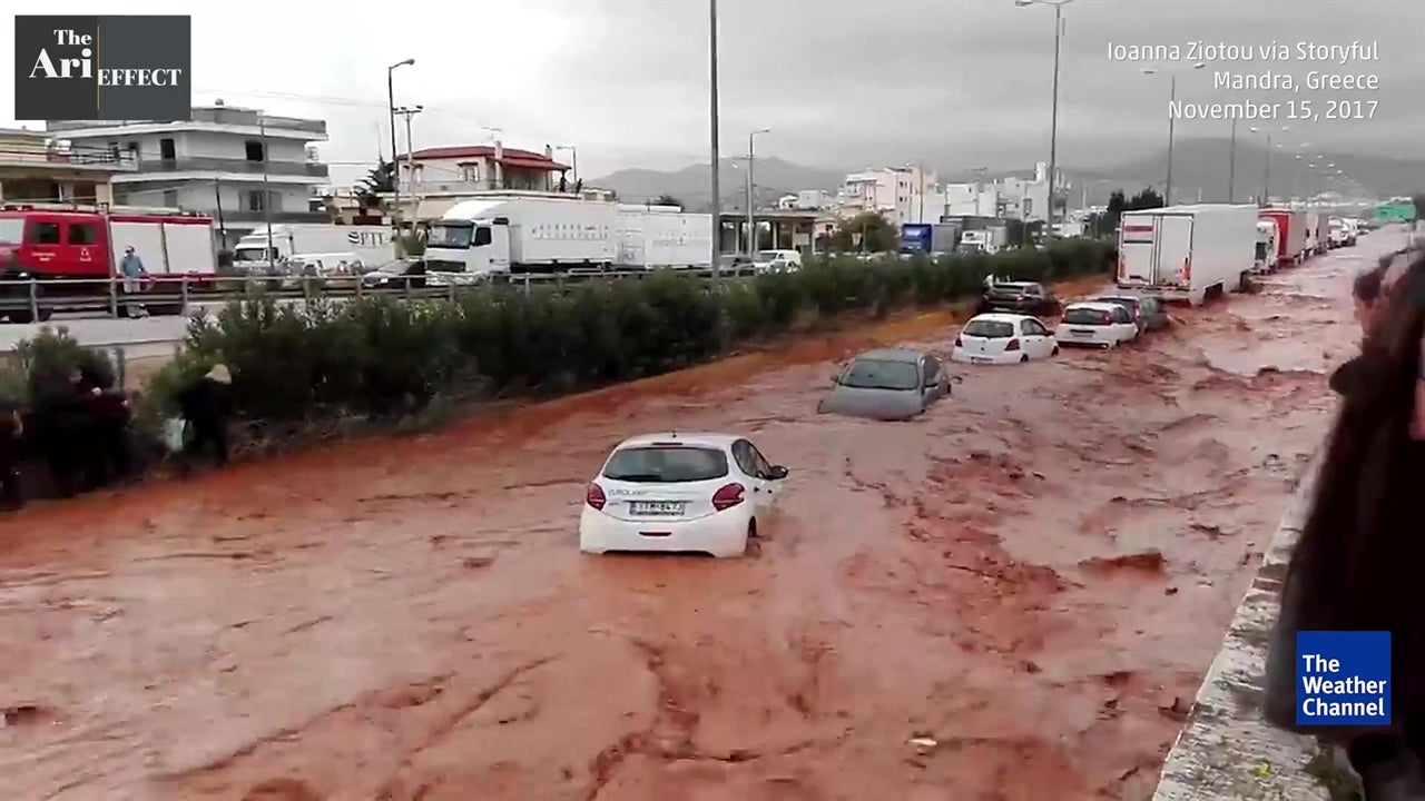 Deadly storms slam Greece
