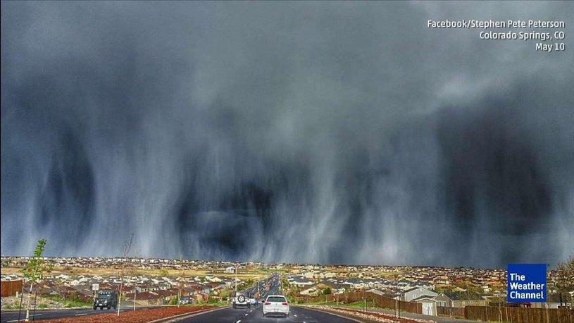 Hail Streaks Colorado Sky in Stunning Display | The Weather