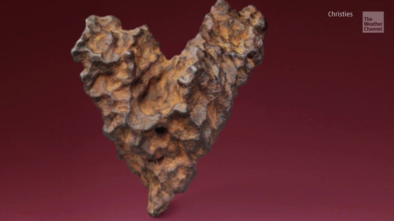 Heart-shaped meteorite up for auction