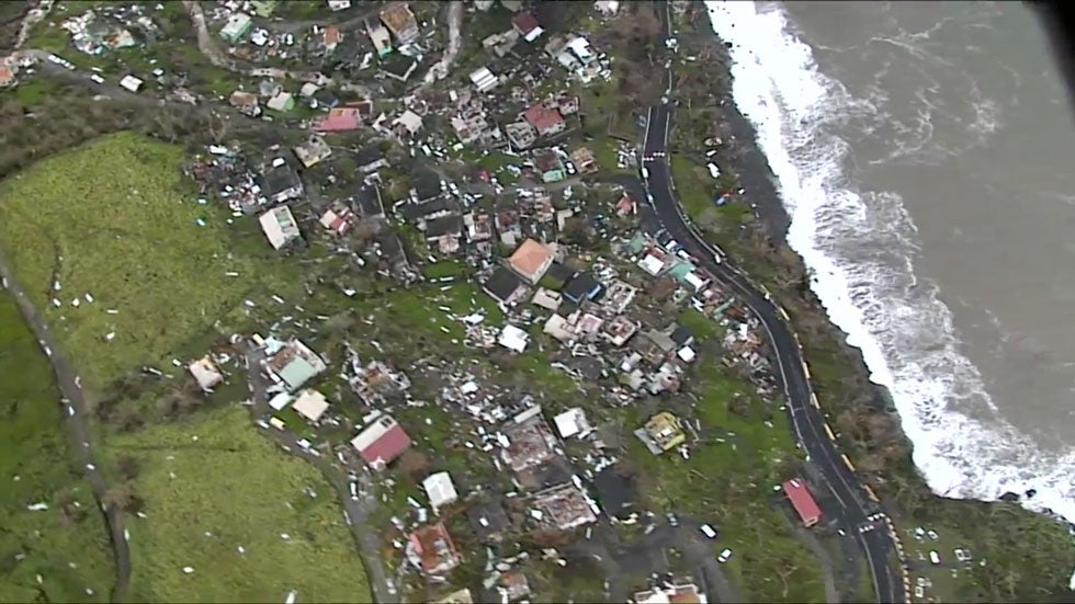 maria inflicts destruction in dominica