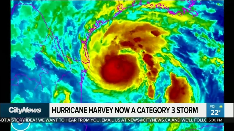 Harvey Barreling Toward Texas
