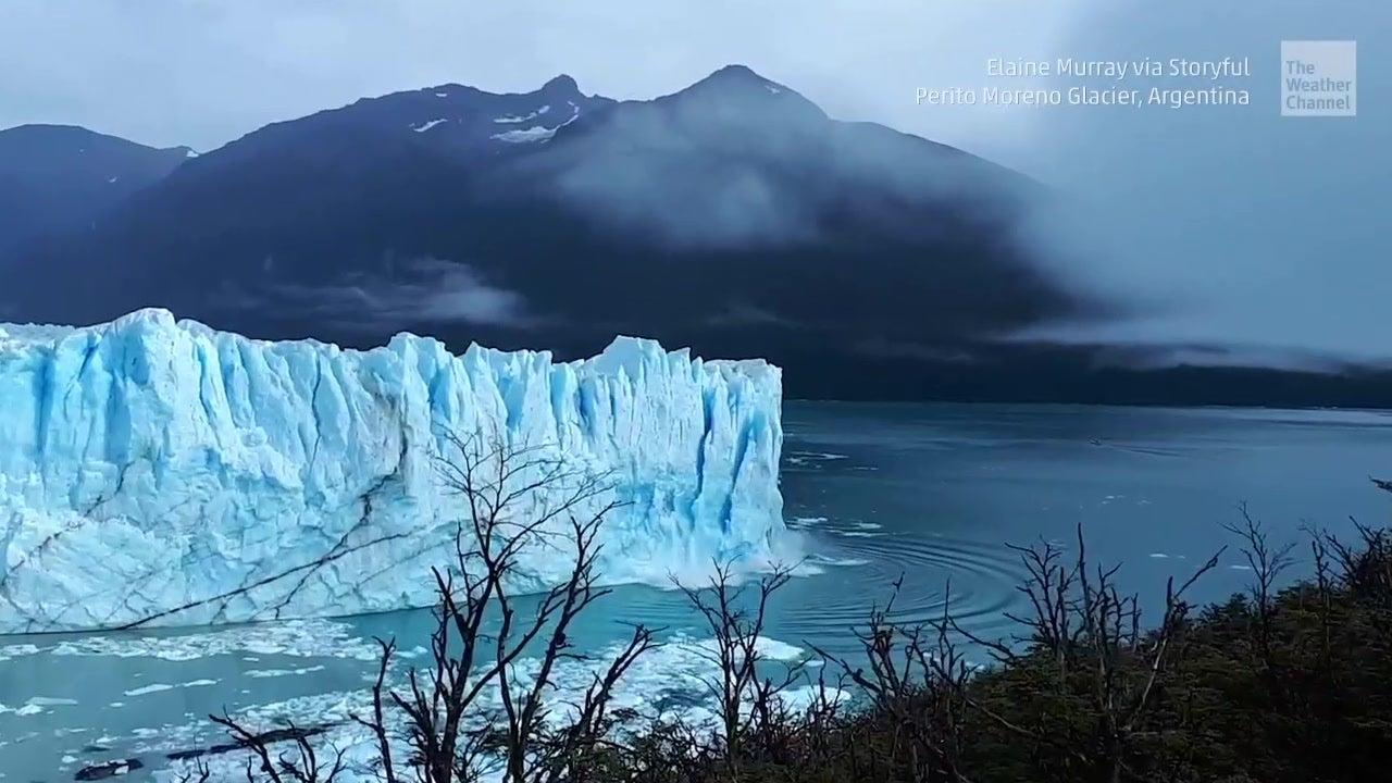 Stunning Sight at Famed Glacier