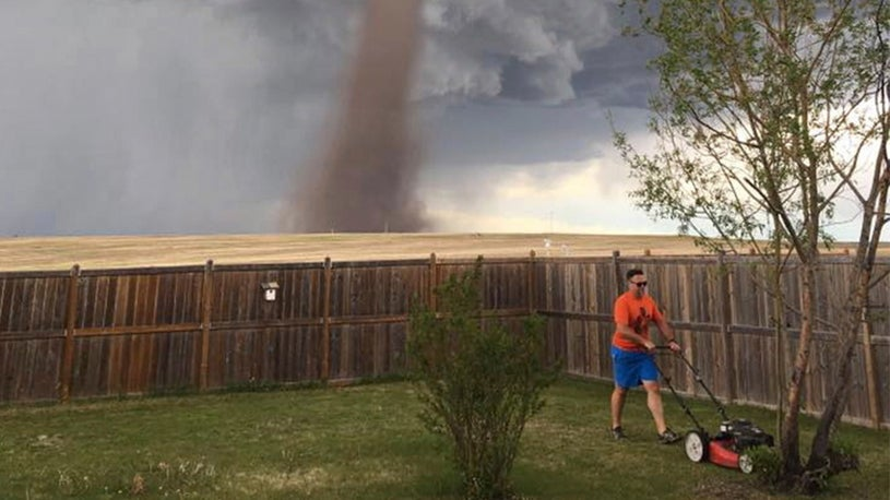 Pic of Man Defying Tornado Reaps Rewards