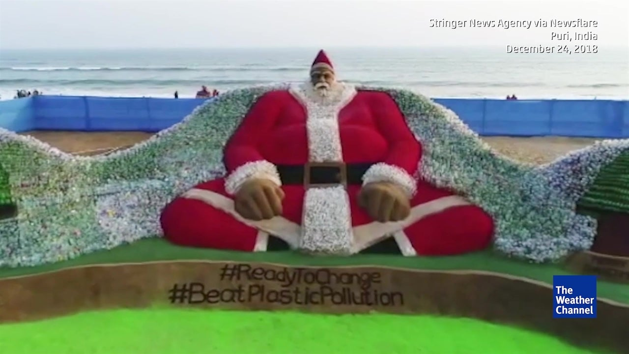 Este é o maior Pai Natal do mundo