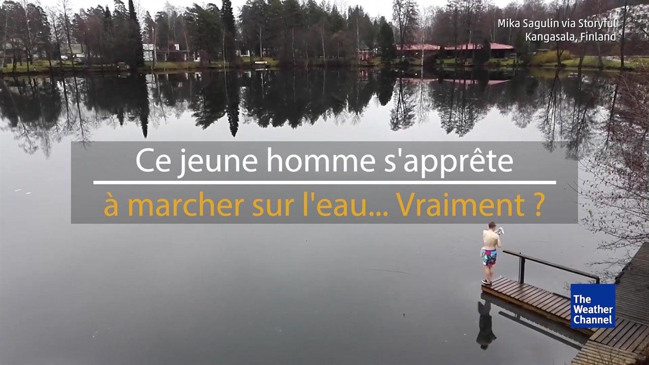 L'étonnante vidéo d'un finlandais sur un lac gelé
