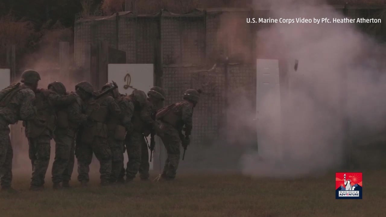 Marines Conduct Explosive Entrance Exercise