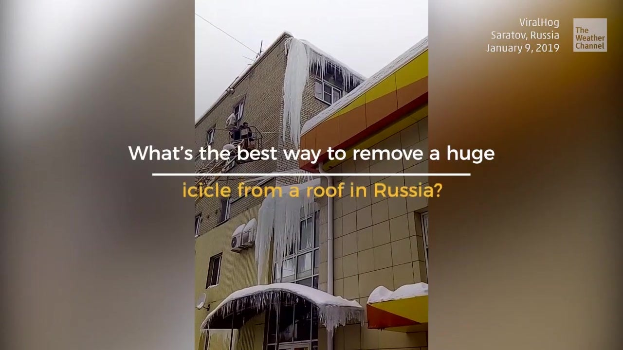 How Not to Remove an Icicle from a Roof
