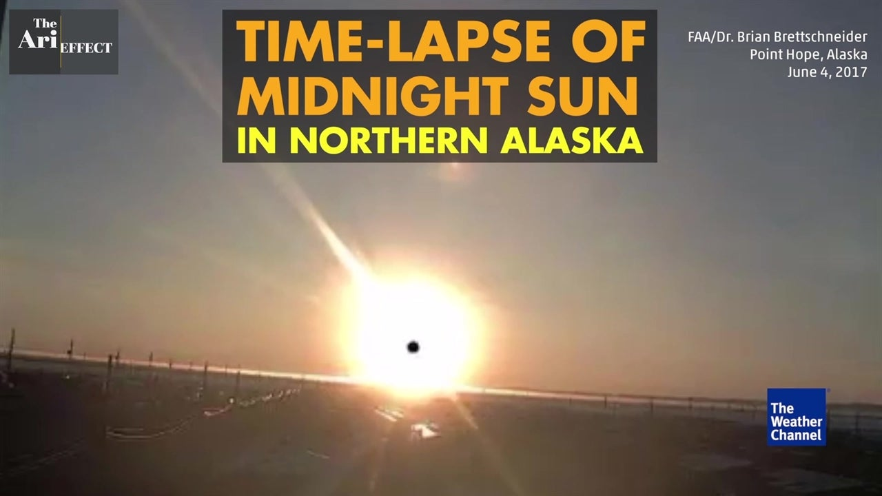 Watch: Time-lapse of midnight sun