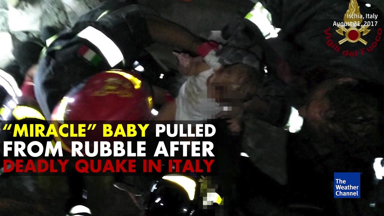 'Miracle' baby pulled from Italy quake rubble