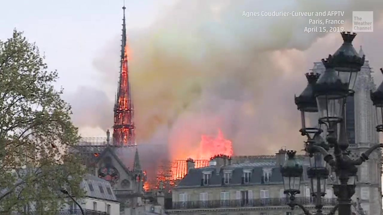 Massive Fire at Paris' Notre Dame Cathedral