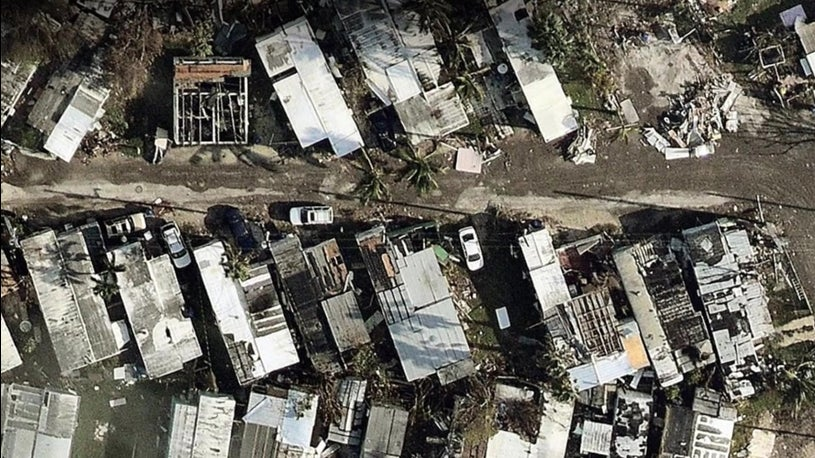 Keys Damage Seen From Above