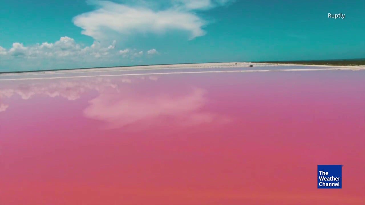This Amazing Pink Lagoon is All Natural