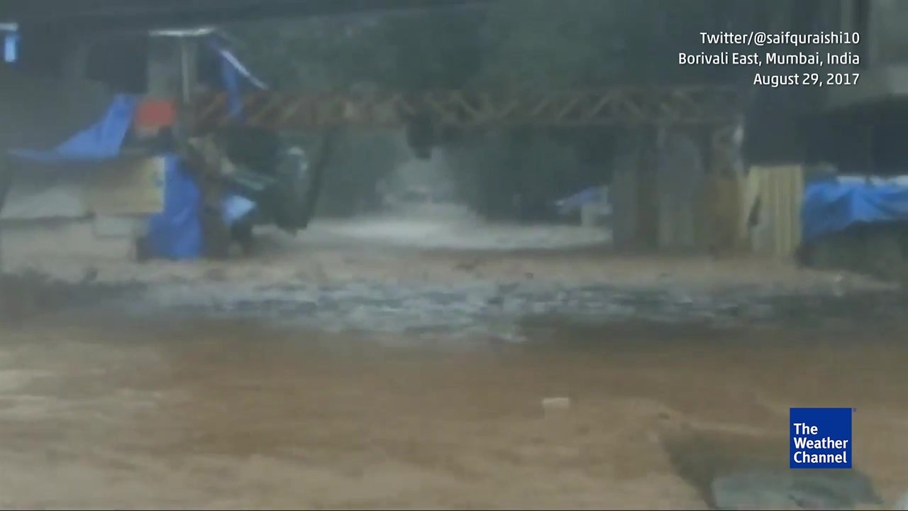 Monsoon Floods Streets of Mumbai