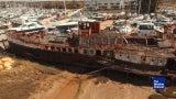 Corrosión de un barco WWII