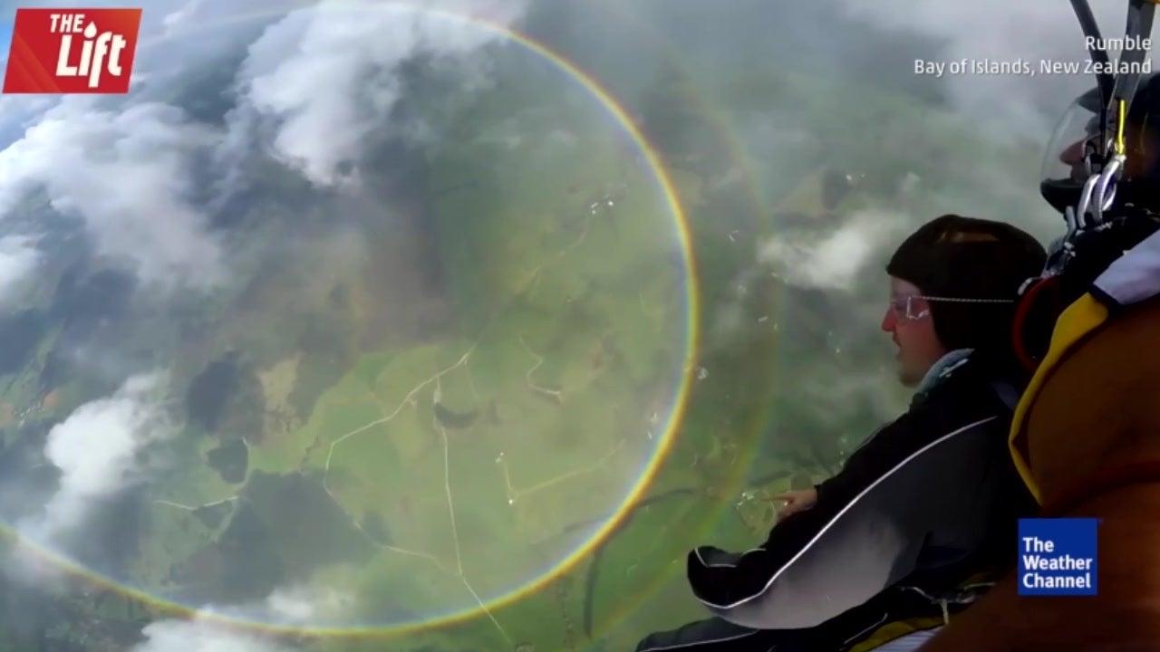 Ein seltener Anblick:  360-Grad-Regenbogen