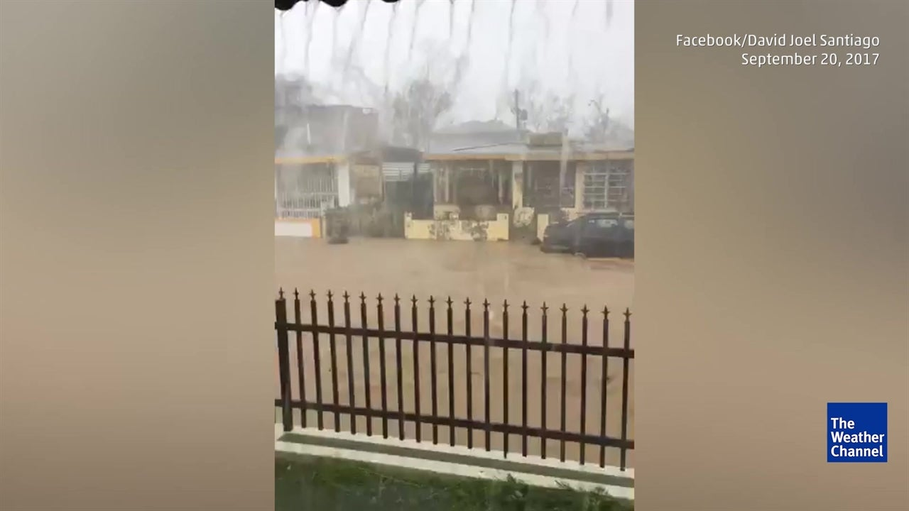 Hurricane floods streets in Puerto Rico