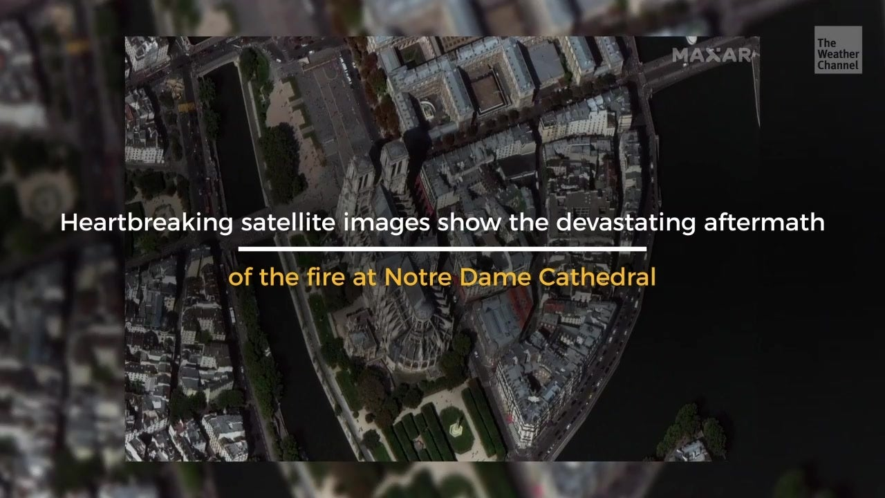 Satellite Images Show Damage at Notre Dame
