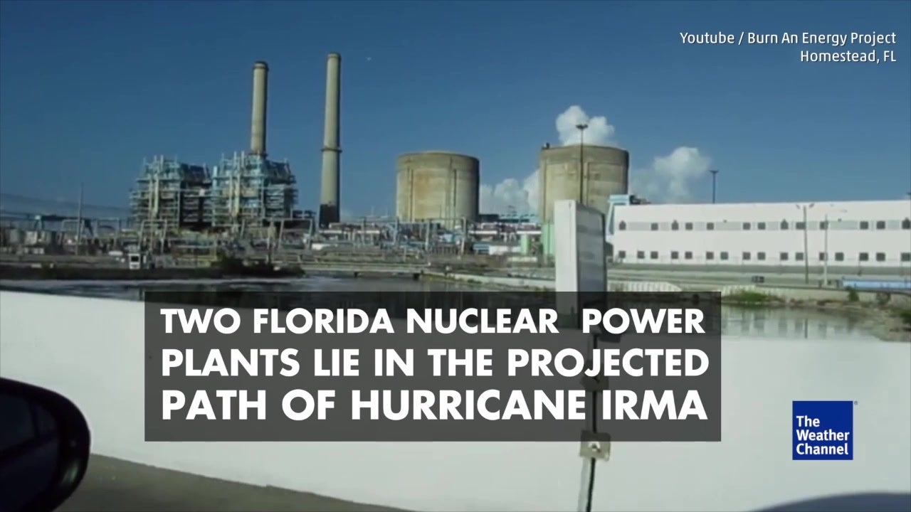 Nuclear plants may lie in Irma's path