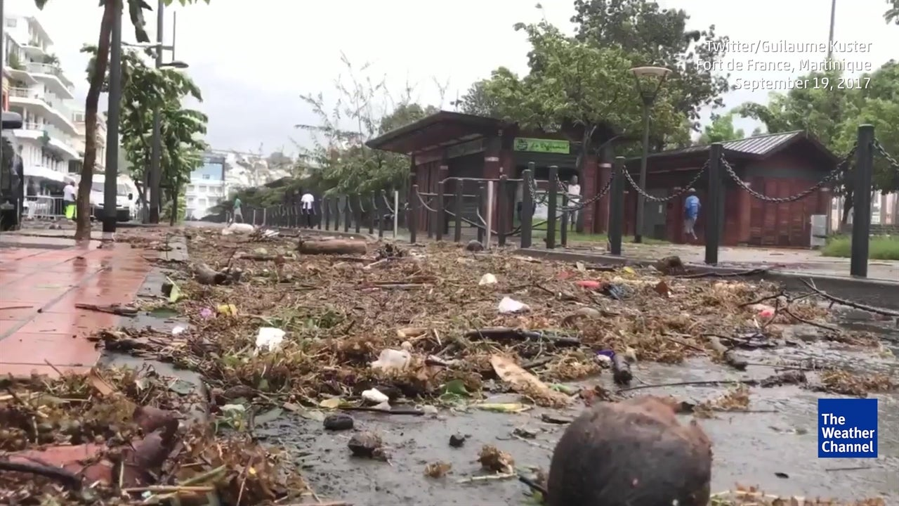 Hurricane flooding in Martinique