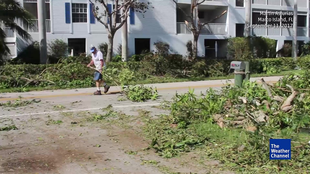 Marco Island residents clean up after Irma