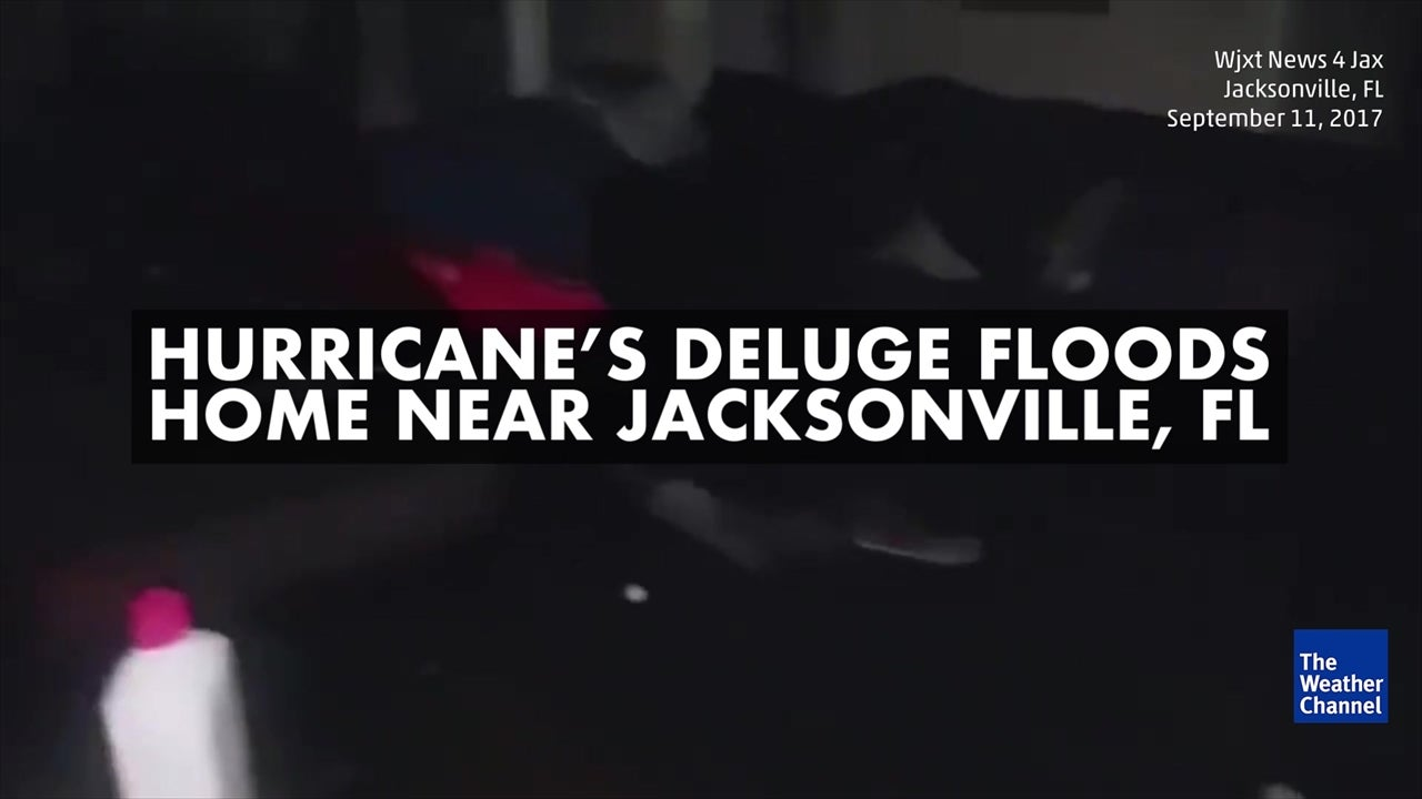 Floodwaters damage home in Jacksonville