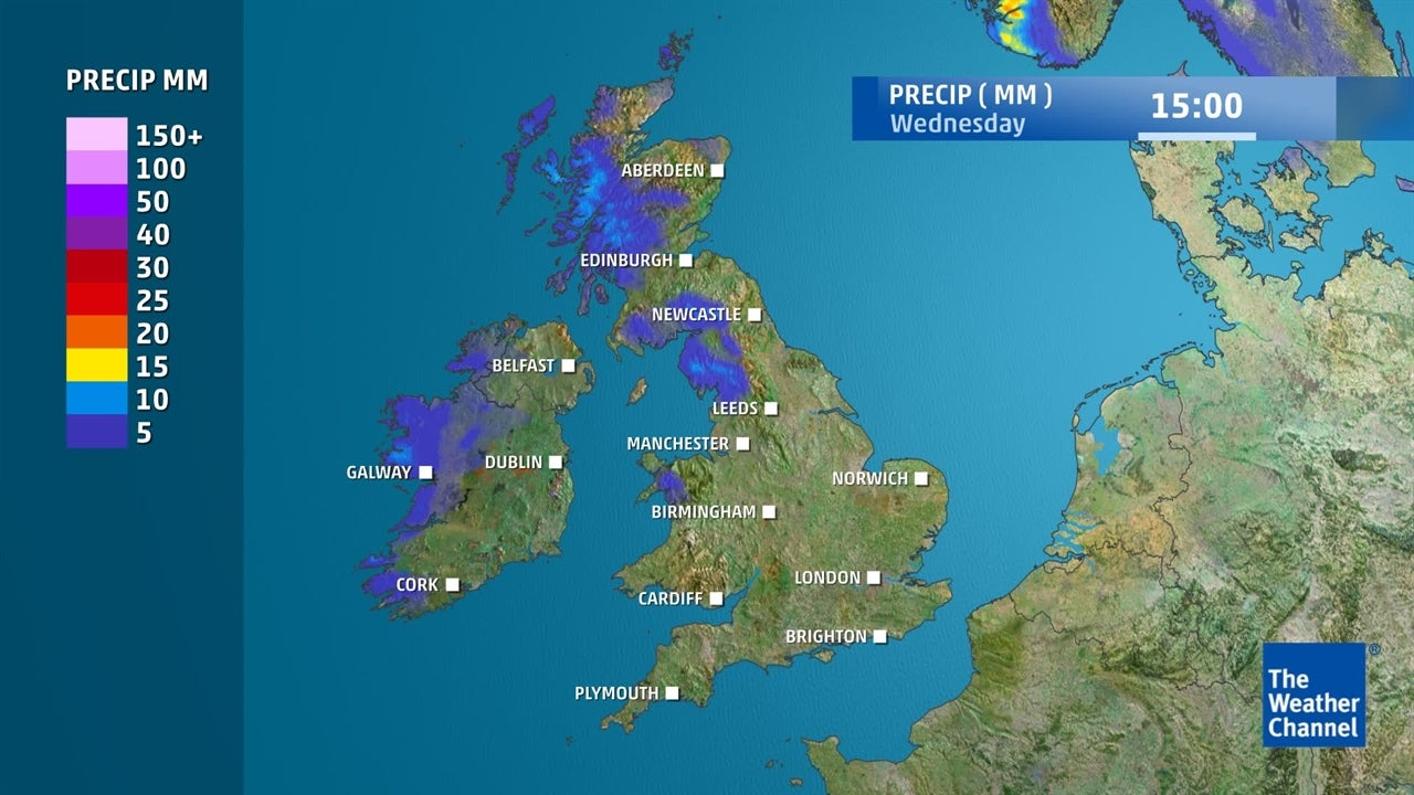 How much rain is on the way in the next few days?