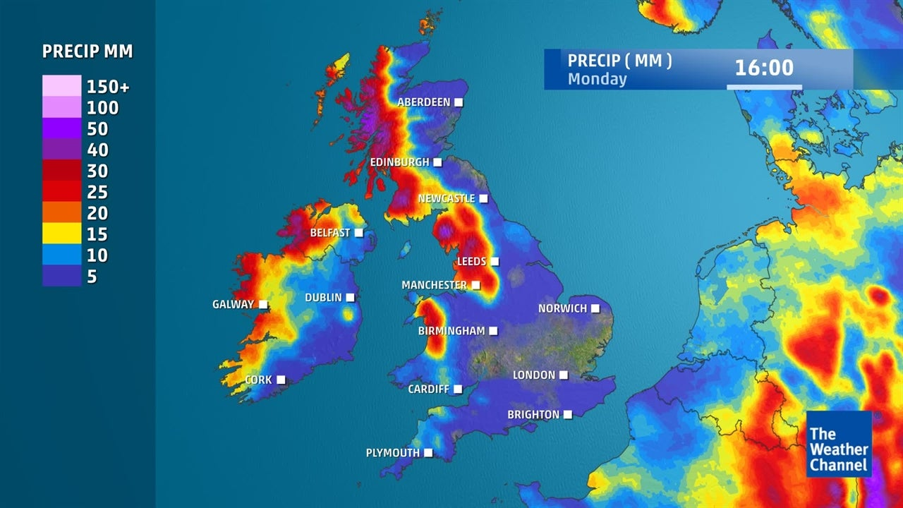See where and when it will rain as the weekend approaches